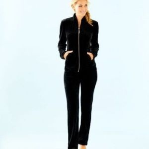 Jordynne  Velour Pants Black